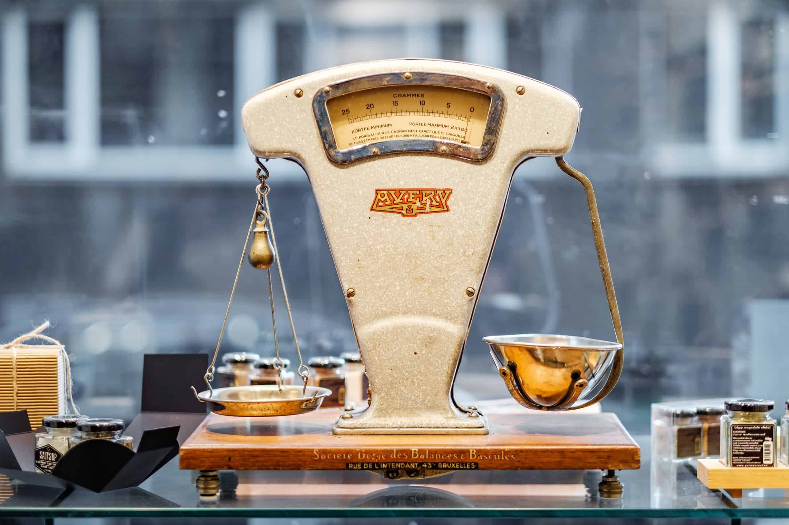 Old fashioned weighing scales